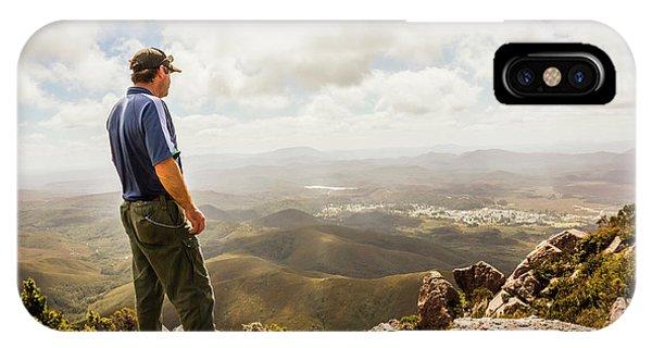 Achievement iPhone Case - Hiking Australia by Jorgo Photography - Wall Art Gallery