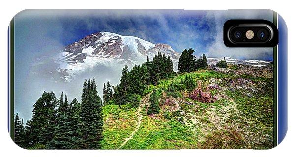 Hiking Rainier IPhone Case