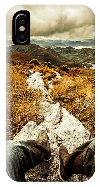 Discovery iPhone Case - Hiking The Mount Sprent Trail by Jorgo Photography - Wall Art Gallery