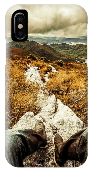 Explorer iPhone Case - Hiking The Mount Sprent Trail by Jorgo Photography - Wall Art Gallery