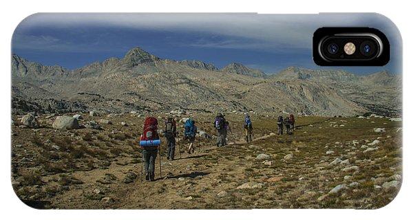 Hiking Through Humphrey Basin IPhone Case