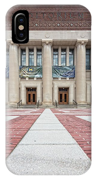 Rights Managed Images iPhone Case - Hill Auditorium U Of M by Cindy Lindow