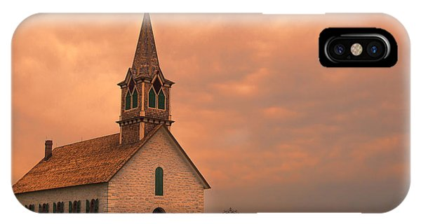 Lutheran iPhone Case - Hill Country Sunset - St Olafs Church by Stephen Stookey