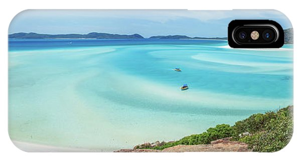 Teal iPhone Case - Hill Inlet Lookout by Az Jackson