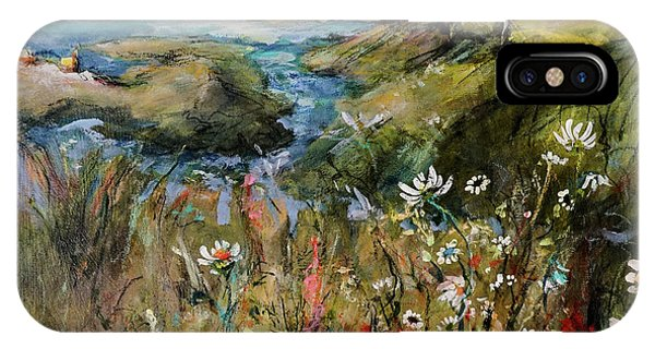 Hill Top Wildflowers IPhone Case