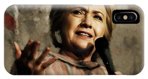 Hillary Clinton iPhone Case - Hillary Clinton 02 by Gull G