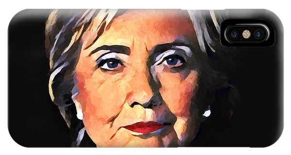 Hillary Clinton iPhone Case - Hillary Clinton by Dan Sproul