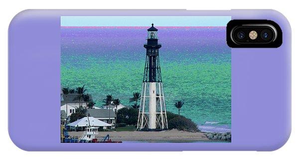 Hillsboro Lighthouse Purple Horizon IPhone Case