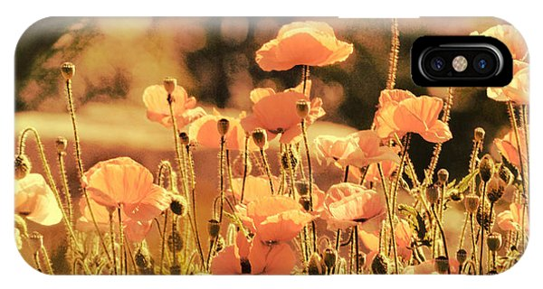 Hillside Poppies And Sunset IPhone Case