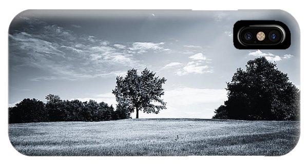 Hilly Black White Landscape IPhone Case