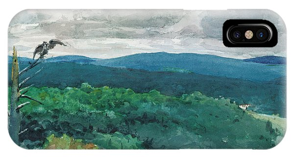 Hills iPhone Case - Hilly Landscape by Winslow Homer
