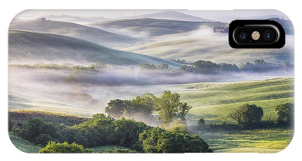 Hilly Tuscany Valley At Morning IPhone Case
