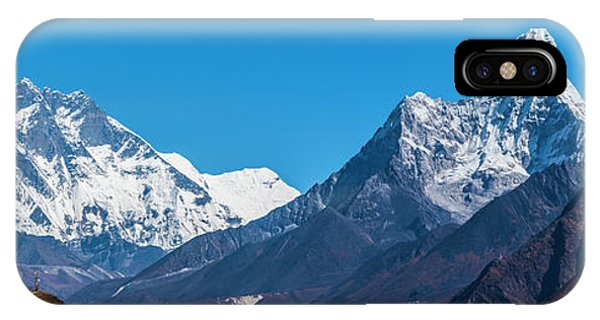 IPhone Case featuring the photograph Himalayan Peaks En Route To Base Camp by Owen Weber