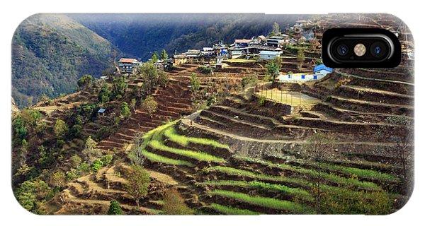 Himalayan Terraced Fields IPhone Case