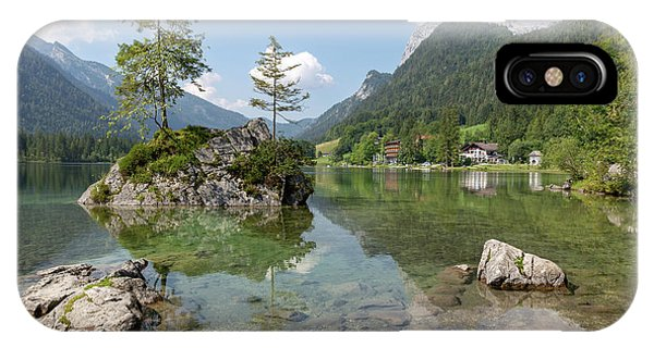 IPhone Case featuring the photograph Hintersee, Bavaria by Andreas Levi