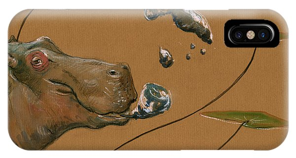 Hippo Bubbles IPhone Case