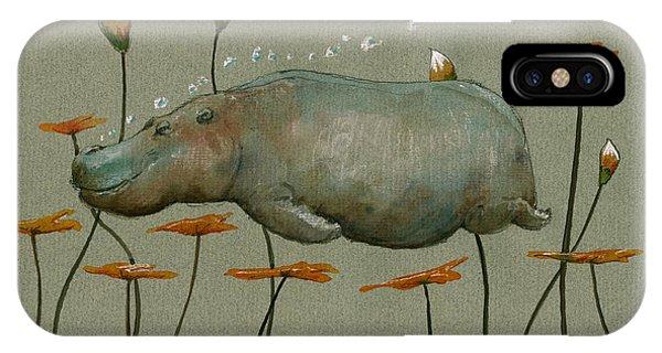 Hippo Underwater IPhone Case