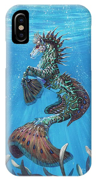 Seahorse iPhone Case - Hippocampus by Stanley Morrison