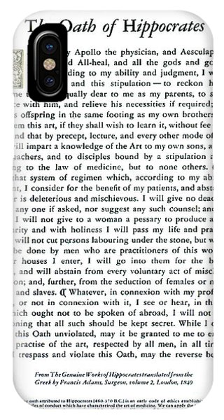 Hippocratic Oath, 1938 IPhone Case