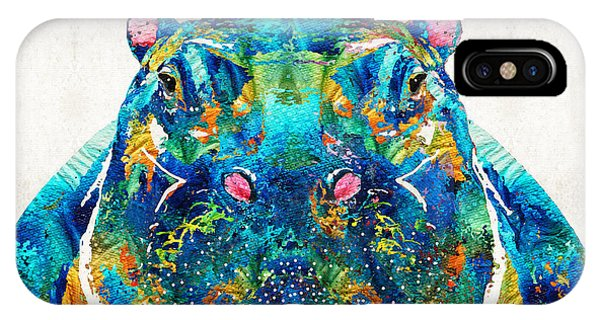 Hippopotamus Art - Happy Hippo - By Sharon Cummings IPhone Case