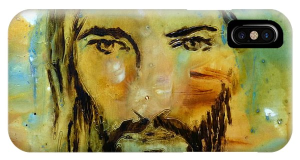 Spirituality iPhone Case - His Face by Ivan Guaderrama