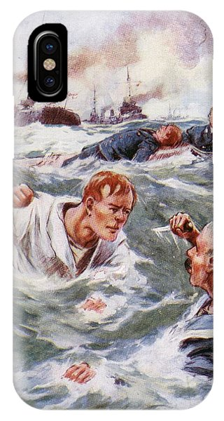Shipwreck iPhone Case - His Fist Rose In The Air As The Other by Vintage Design Pics
