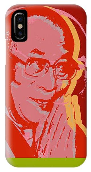 His Holiness The Dalai Lama Of Tibet IPhone Case