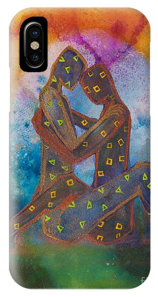 Lgbt iPhone Case - His Loves Embrace Divine Love Series No. 1007 by Ilisa Millermoon