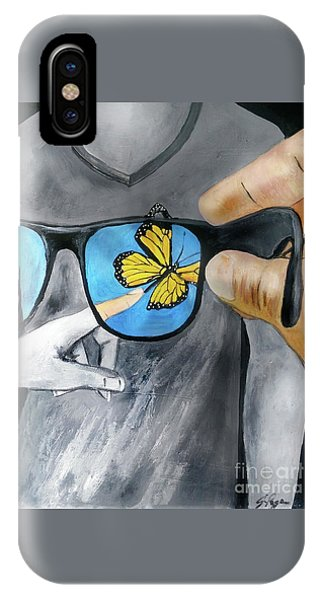 IPhone Case featuring the painting His Perspective by Jennifer Page