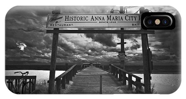 Historic Anna Maria City Pier 9177436 IPhone Case