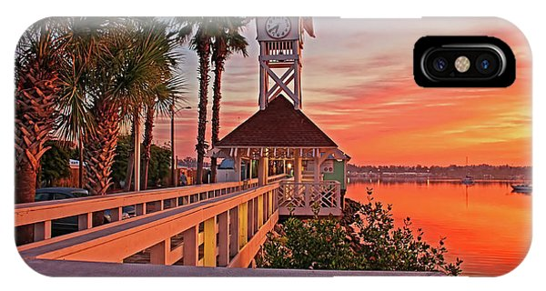 Historic Bridge Street Pier Sunrise IPhone Case