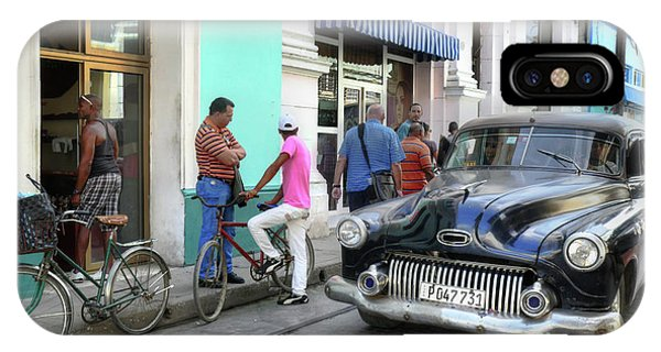 Historic Camaguey Cuba Prints The Cars 2 IPhone Case