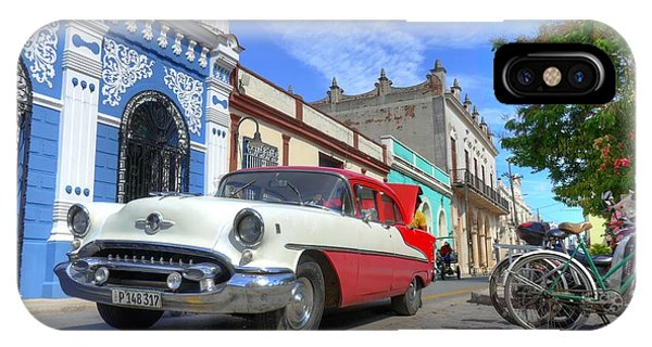 Historic Camaguey Cuba Prints The Cars IPhone Case