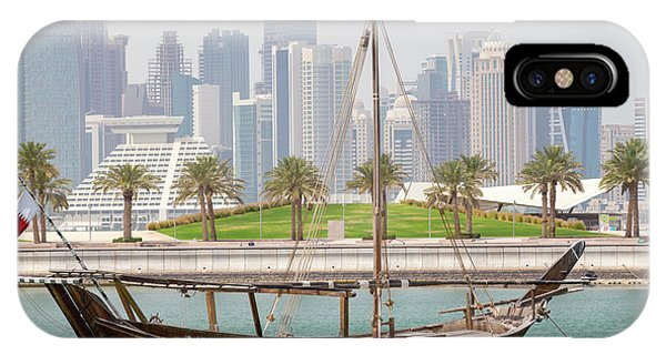Historic Dhow And Towers IPhone Case