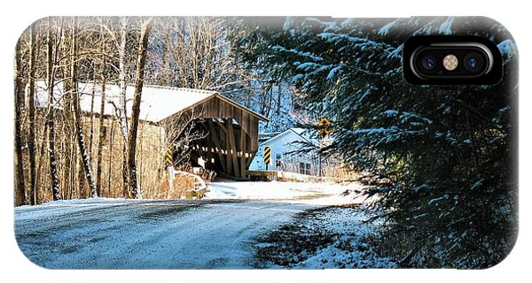 Historic Grist Mill Covered Bridge IPhone Case