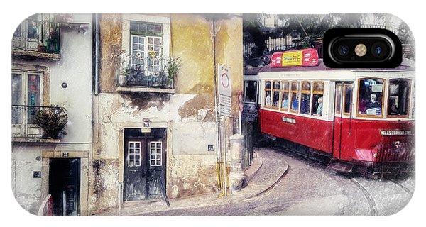 Historic Lisbon Tram IPhone Case