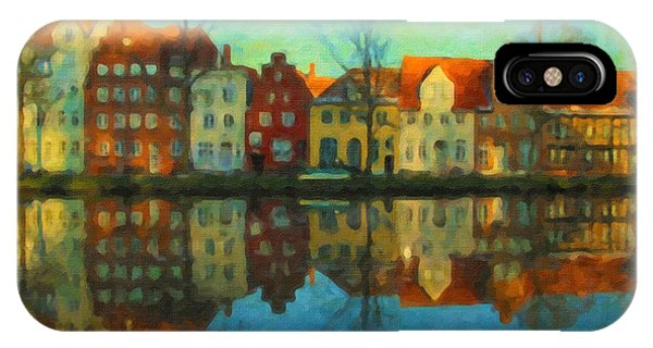 Historic Old Town Lubeck IPhone Case