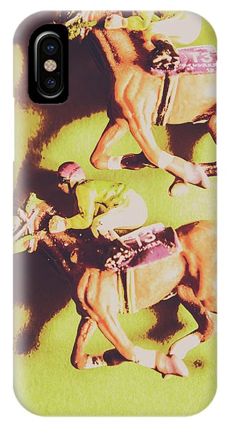 Horseman iPhone Case - Historic Racing Competition by Jorgo Photography - Wall Art Gallery