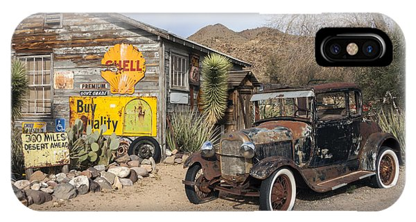 Historic Route 66 - Old Car And Shed IPhone Case