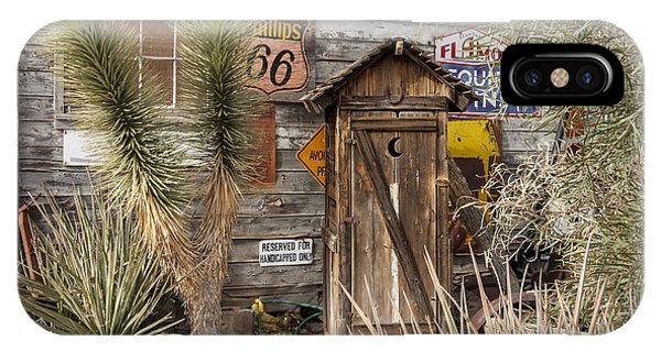 Historic Route 66 - Outhouse 2 IPhone Case