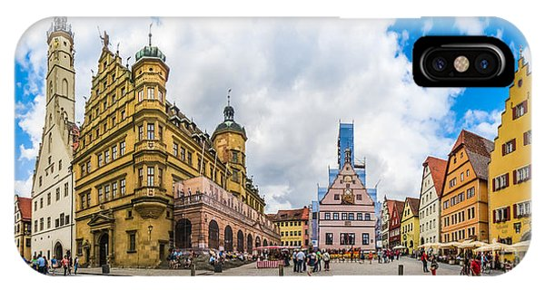 Historic Townsquare Of Rothenburg Ob Der Tauber, Franconia, Bava IPhone Case