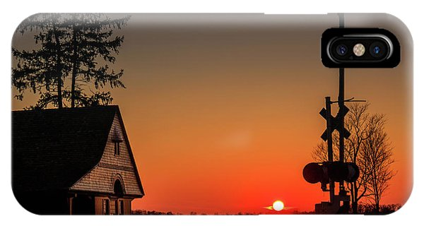 Historical Train Depot In Wayne Illinois IPhone Case