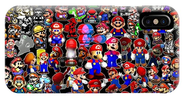 History Of Mario Mosaic IPhone Case