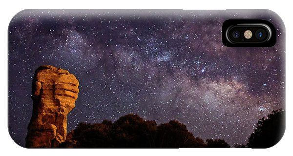 Hitchcock Pinnacle Nightscape -- Milky Way IPhone Case