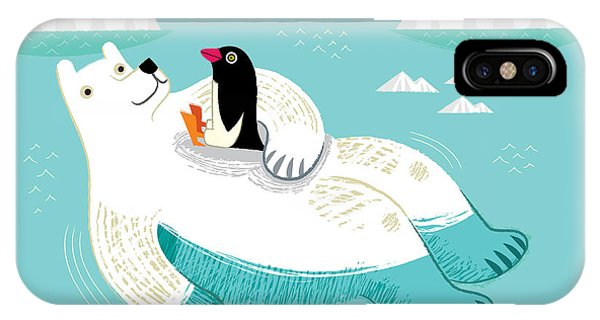 Penguin iPhone Case - Hitching A Ride by Oliver Lake