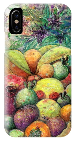 IPhone Case featuring the painting Hitching Post Harvest by Ashley Kujan