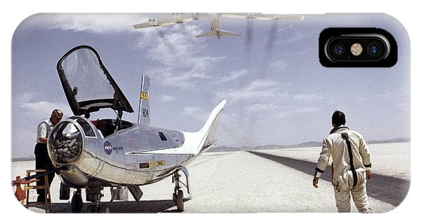 Hl-10 On Lakebed With B-52 Flyby IPhone Case