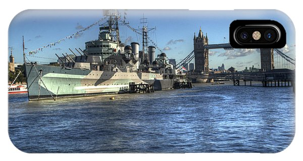 iPhone Case - Hms Belfast And Tower Bridge by Chris Day