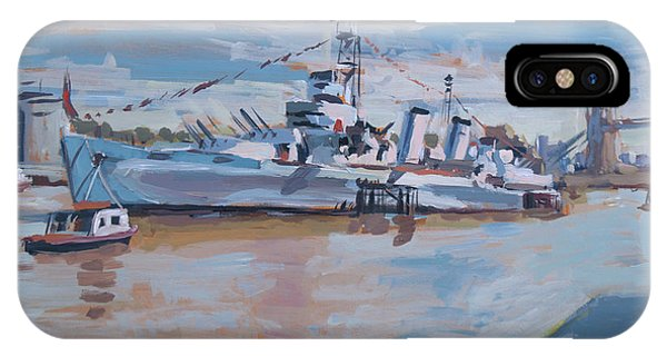 Briex iPhone Case - Hms Belfast Shows Off In The Sun by Nop Briex