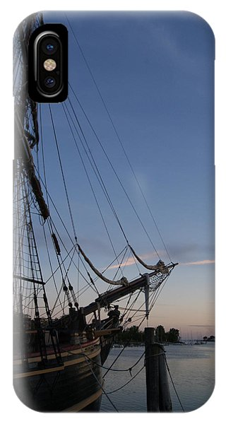 Hms Bounty Ship - Sunset At The Cove IPhone Case